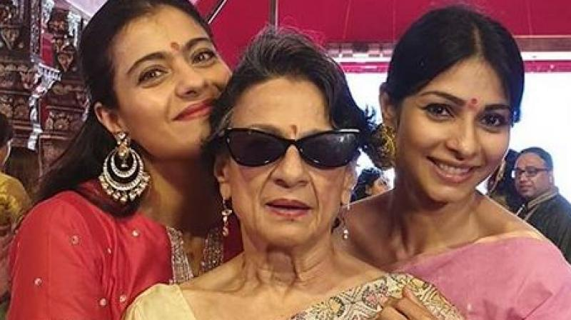 Kajol, Tanisha and Tanuja. (Image Source: Instagram/ kajol)