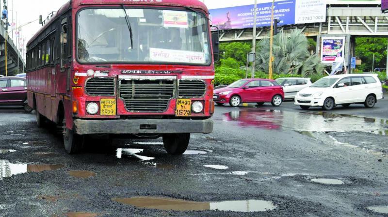 File picture of Mumbai-Goa highway during monsoon.