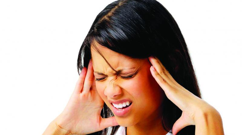 A migraine is an episodic debilitating headache requiring long-term management. Experts say yoga exercises, deep breathing and meditation have been proven to reduce stress, one of the main triggers of these headaches. (Representative image)