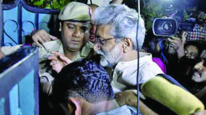 The court on Monday refused to extend activist Gautam Navlakha's house arrest by two more days.