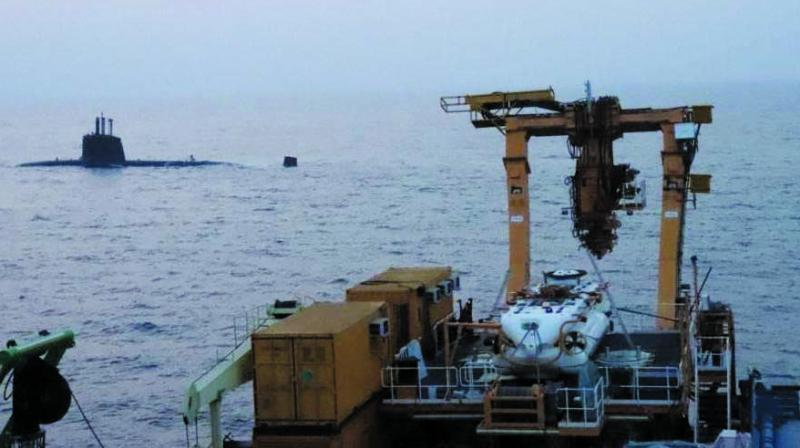 Indian Navy's 'Deep Submergence Rescue Vehicle'.