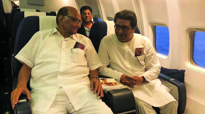 NCP chief Sharad Pawar and MNS chief Raj Thackeray.