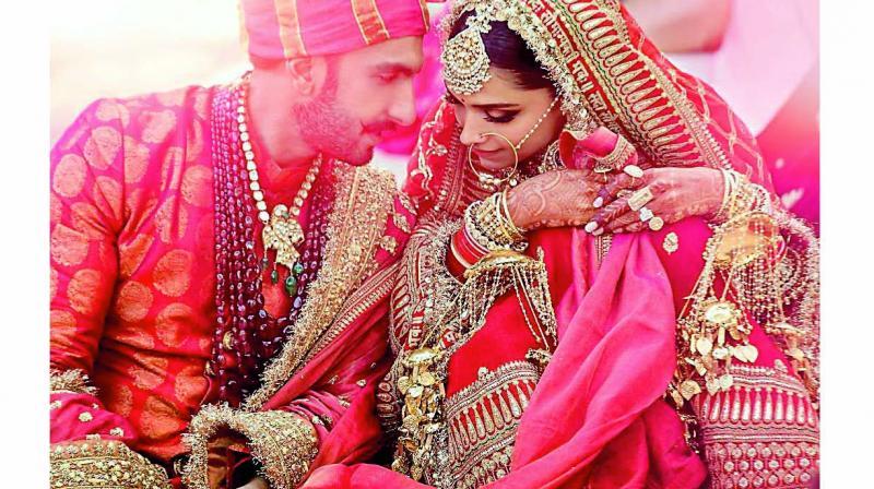 Ranveer Singh was dressed in red, head-to-toe, for his Sindh-style wedding.
