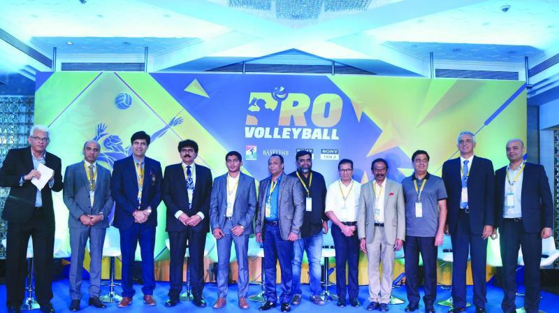 (L-R) Joy Bhattacharya; Ramavtar Singh Jhakar, DG Chaudhary, Safeer PT, Uppiliappan G, Shyam Gopu, Thomas Muthoot, S Vasudevan, Ronnie Screwvala, Luis Alexandre and Tuhin Mishra.