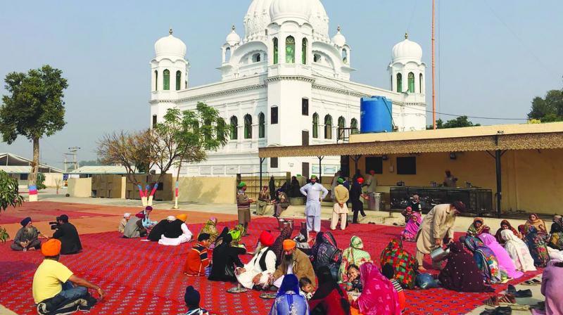 Sikh pilgrims at Kartarpur Sahib. (Photo: AFP)