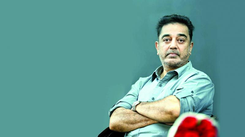 Actor-turned-politician Kamal Haasan visited the family of the 23-year-old techie who lost her life due to erection of illegal hoardings or banners that rattled the entire Tamil Nadu. (Photo: File)