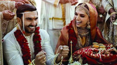 a967e48275eff A file photo of Ranveer Singh and Deepika Padukone s wedding in Italy s  Lake Como
