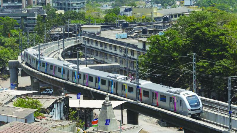 File picture of Mumbai metro.