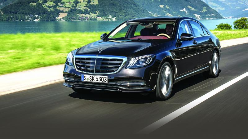 This S Class, with it's all-new ultra-clean engine and 9-speed automatic gearbox is faster than the last one.