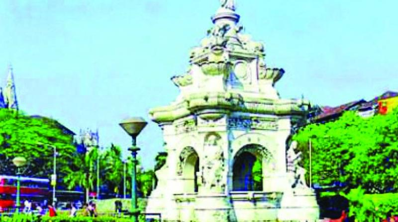 The iconic Flora Fountain in Fort.