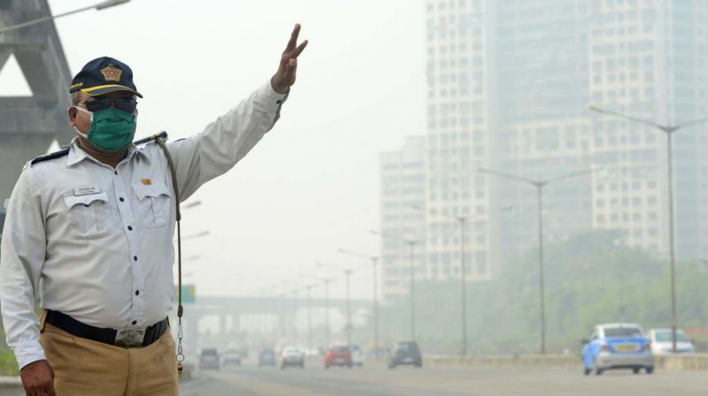 Weather experts have attributed the dip in air quality to cold weather of last few days.