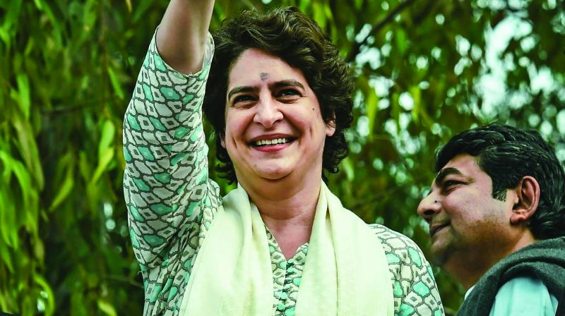 Priyanka said, 'BJP should tell what they have done in their five years when they are in power.' (Photo: AP)