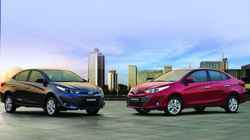 Toyota Yaris was expected to garner volumes in the segment dominated by the Honda City, Maruti Ciaz and Hyundai Verna. (Photo: PTI/File)