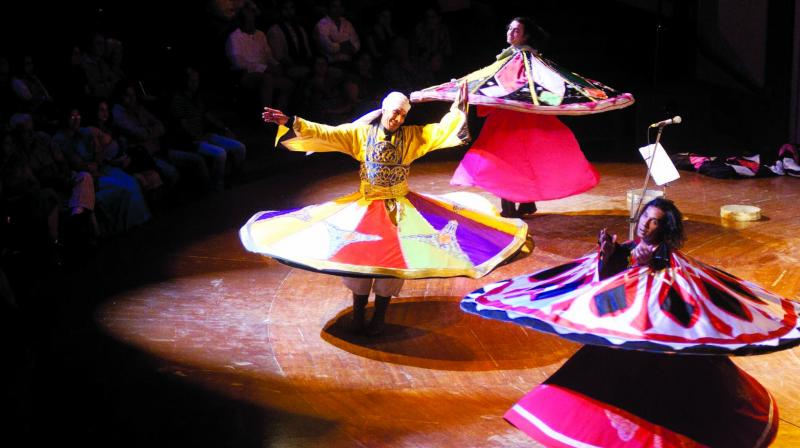 Though whirling dance is practised worldwide, in some cultures dervishes whirl clockwise in other to the right side.