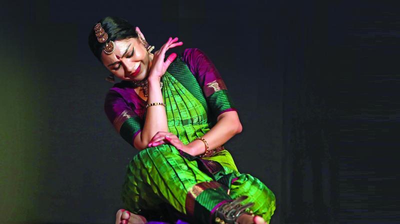 Bharatnatyam dancer and Sangeet Natak Academy award  winner Rama Vaidyanathan performing on the third day of the festival.
