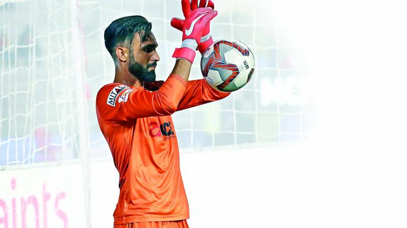 Mumbai City FC goalkeeper Amrinder Singh.