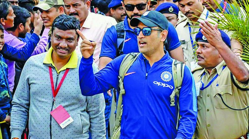 There has been a sense of déjà vu every time Dhoni has stepped on to the field in the ongoing series. (Photo: PTI)