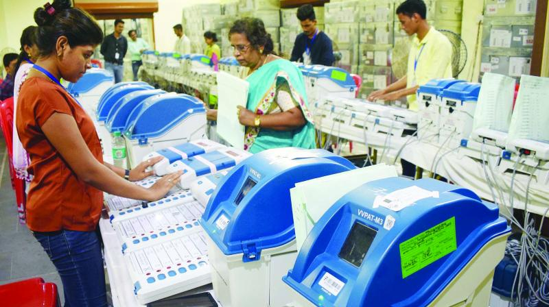 Petitioners also want 50 per cent of VVPAT (Voter Verified Paper Trail Audit Machines) to be tallied with the voting machines. (Representational Image)