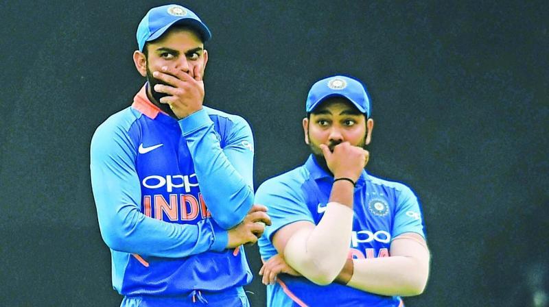 Virat Kohli and Rohit Sharma.