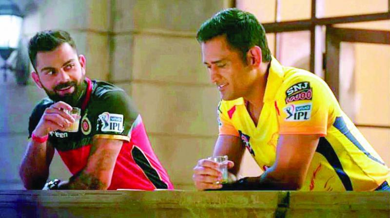 The promotions for the IPL Season 12 have been revolving around two of Indian cricket superstars — M.S. Dhoni and Virat Kohli.