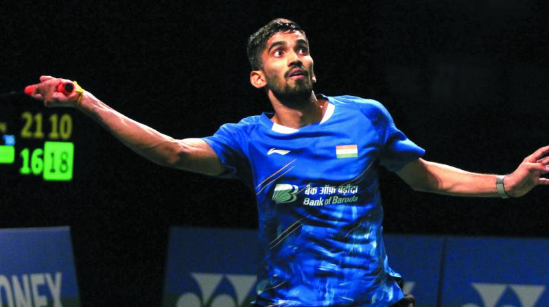 The former World No 1 Srikanth Kidambi faced defeat at the hands of Chinese Taipei's Chou Tien Chen 15-21, 21-7, 21-14. (Photo: File)