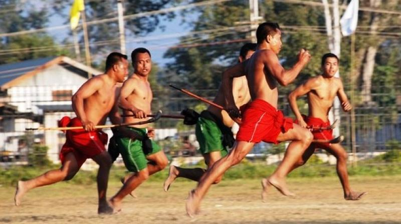 Manipur's local sport, Mukna Kangjei is akin to the modern day hockey and people of Manipur have been playing it since time immemorial. (Photo:ANI)