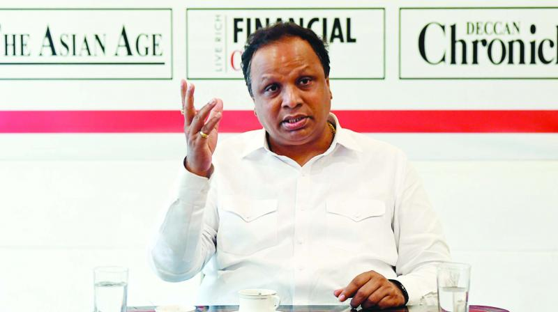 BJP Mumbai chief Ashish Shelar at The Asian Age office. (Photo: RAJESH JADHAV)