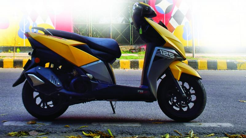 When TVS first showcased Ntorq, the company said that the design of this 125cc has been inspired by stealth fighter jets. (Nitesh Jeiya)