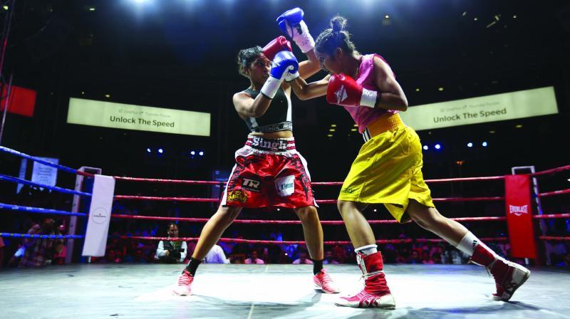Mega Boxing: Urvashi vs Kirti.