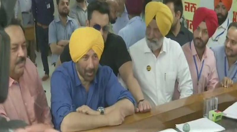 Deol was inducted into the party on April 23 in New Delhi in the presence of Union ministers Nirmala Sitharaman and Piyush Goyal. (Photo: ANI)