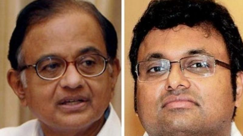 The Delhi High Court on Friday sought response of former finance minister P Chidambaram and his son Karti on the Enforcement Directorate's plea challenging the anticipatory bail granted to them in the Aircel-Maxis case. (Photo: File)