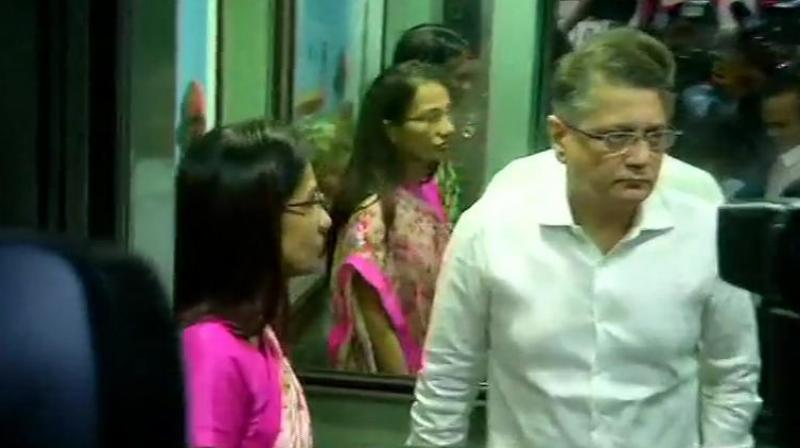 On Tuesday, Chanda and Deepak were grilled were over eight hours by the ED in connection with the aforesaid case. (Photo: ANI twitter)