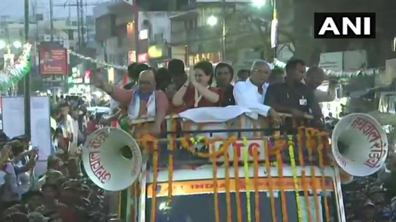 The local unit of the Congress had made elaborate arrangements to pull in the crowds for the roadshow, a party leader said. (Photo: ANI twitter)
