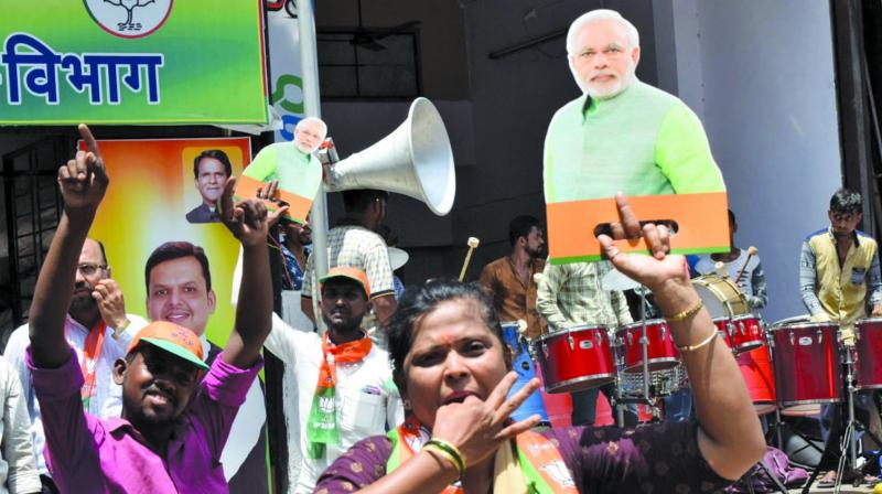 The vote share of the BJP in Maharashtra has slightly increased from 27.56 per cent in 2014 to 27.59 per cent in 2019.