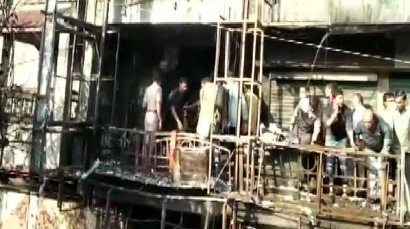 Several students were seen jumping off the building to escape the inferno.  (Photo: ANI twitter)