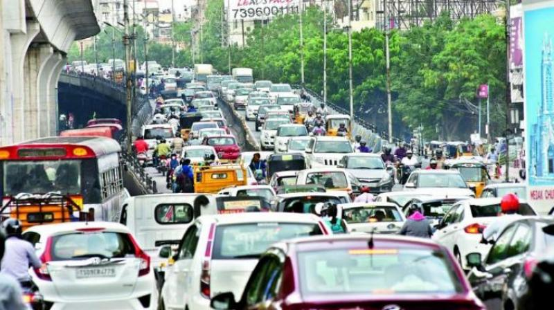 In 2018, the average traffic congestion in Mumbai was 65 per cent, a slight decrease from 66 per cent in 2017. (Representional Image)