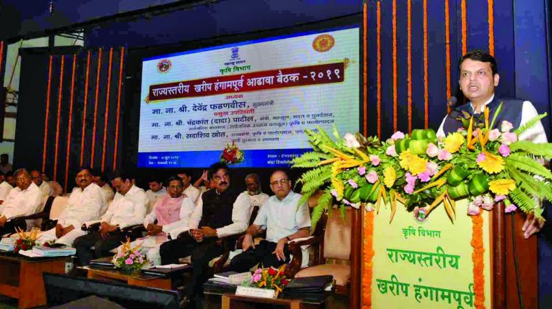 CM at the Kharif review meeting on Friday.