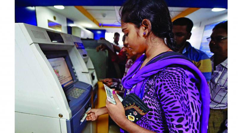 Many Indians continue to depend on cash for making transactions.