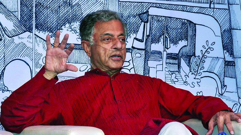 Girish Karnad at the 7th edition of the Bangalore Literature Festival (BLF) in Bengaluru. (Photo: PTI)