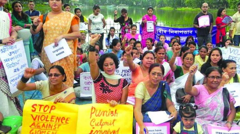 Many women organisations are up in arms, protesting cases of violence against the fair sex in Assam.