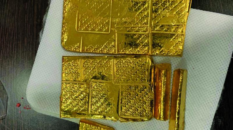 The recovered gold bars.