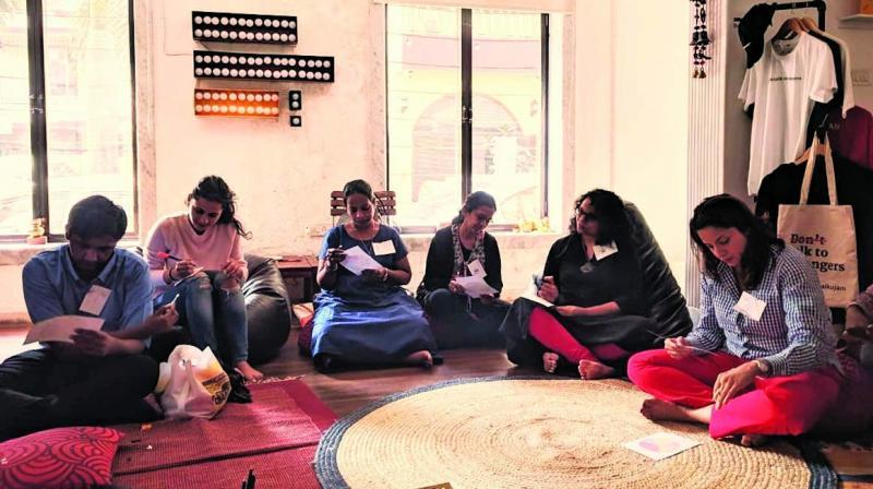 Participants at an earlier workshop.