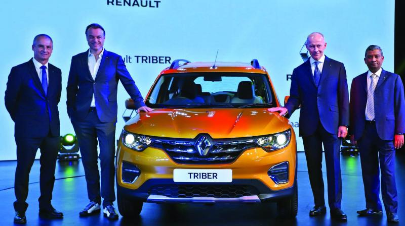 The company said Renault Triber, made at its Chennai factory, will be commercially sold in India in the second half of 2019, when the price would also be revealed.