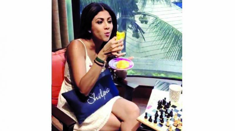 Shilpa indulging on her 'Sunday Binge' day.