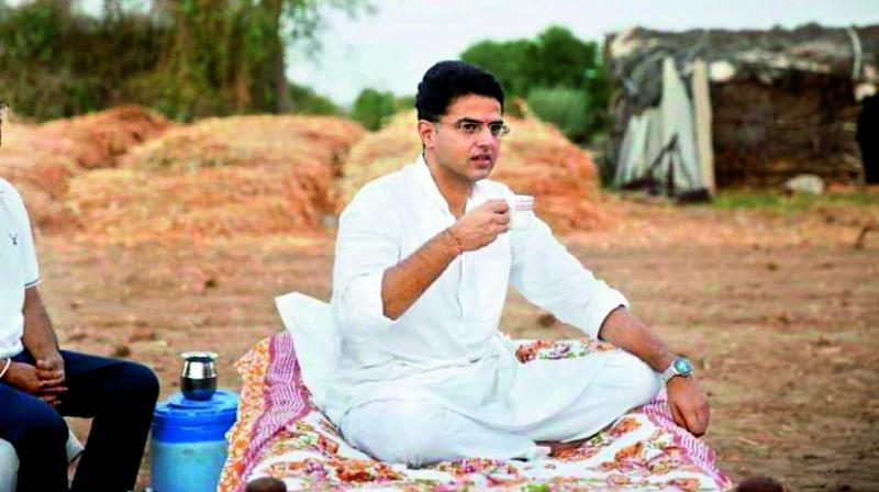 Sachin Pilot, now about to retrace his steps back into the Congress parivar. (File photo)