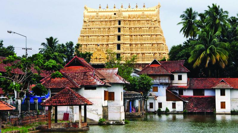 A general view of the Sree Padmanabhaswamy Temple in Thiruvananthapuram, the capital of Kerala. (Photo: AFP)