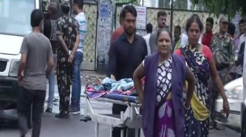 According to agitating doctors, they have to strike the work after five students in the Department of Orthopaedic were failed in an examination. (Photo: ANI)