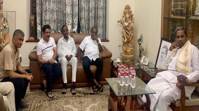 The Hoskote MLA Nagaraj and Chikballapur Congress MLA K Sudhakar had resigned from the Assembly on July 10. (Photo: ANI)