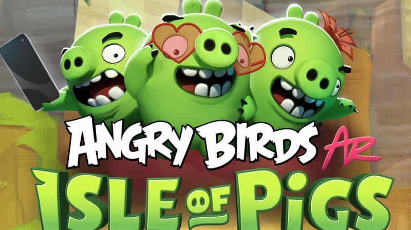 """The game """"allows players to take the power of the Angry Birds slingshot into their hands like never before, placing the classic piggy constructed towers into the player's own environment using Apple's ARKit technology,"""""""