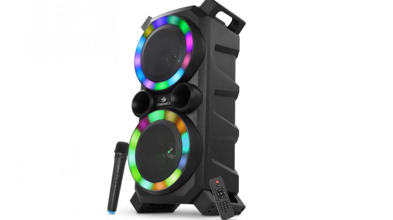 The speaker is launched on the occasion of Holi with it's RGB lights that will make this speaker a showstopper at any party.